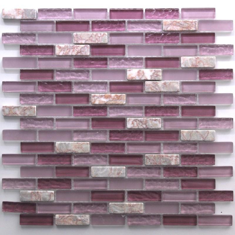 mosaique et carrelage inox brosse rectangular 98. Black Bedroom Furniture Sets. Home Design Ideas
