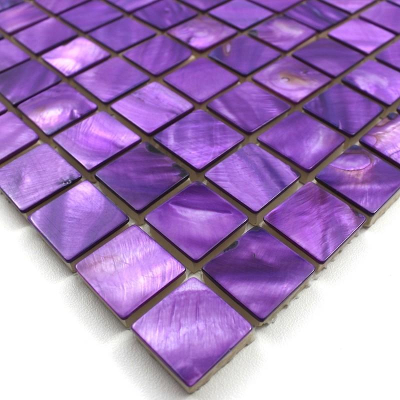 Cr dence cuisine mosa que carrelage salle de bain for Carrelage violet salle de bain