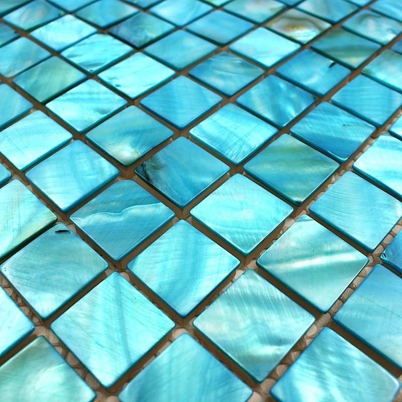 crdence cuisine carrelage douche sol mosaque douche nacre 23 bleu - Carrelage Sol Bleu Turquoise