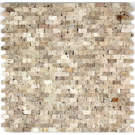 Douche italienne mosaique pierre sol et mur salle de bain for Mosaique bac a douche