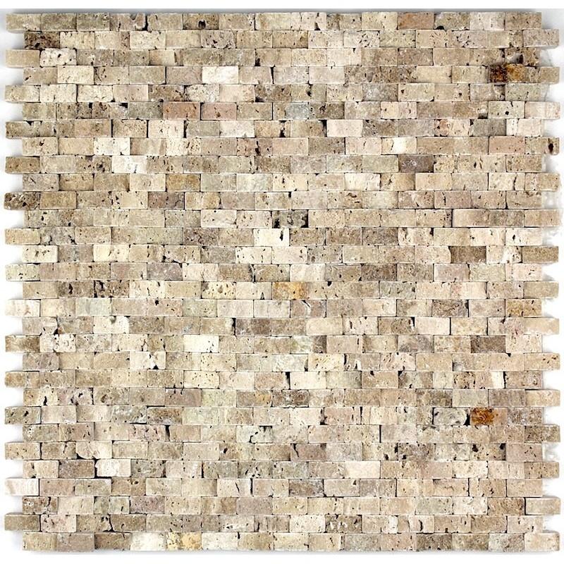 Douche italienne mosaique pierre sol et mur salle de bain for Carrelage salle de bain beige texture