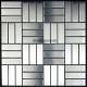 mosaique inox, carrelage inox, faience 1 m2 DUPLICA 64