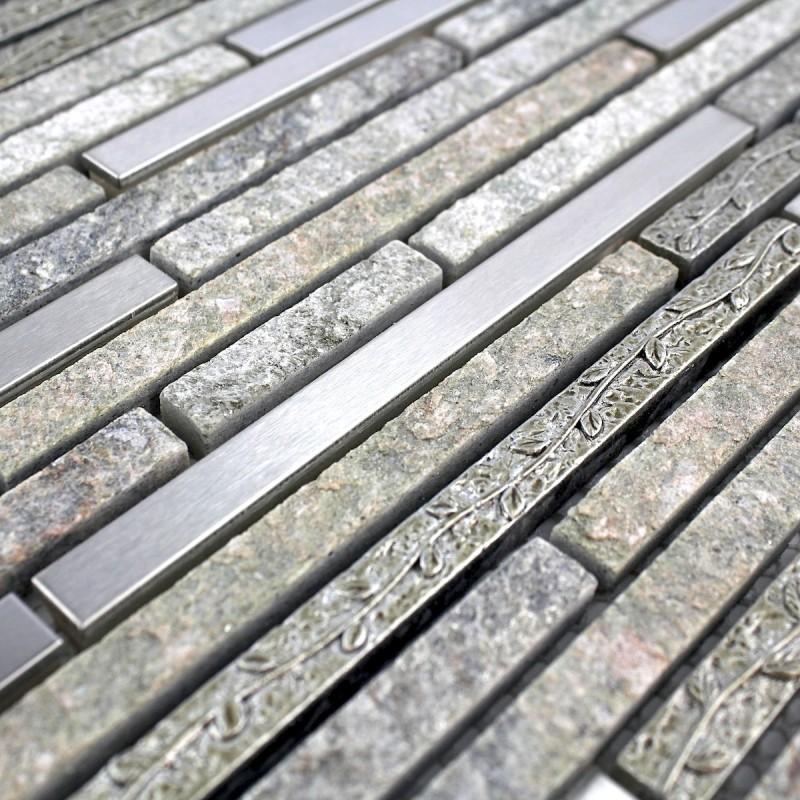 Mosaique et carrelage inox brosse rectangular 98 - Mosaique et carrelage ...