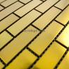 steel mosaic inoxydale model 1m-brique64gold