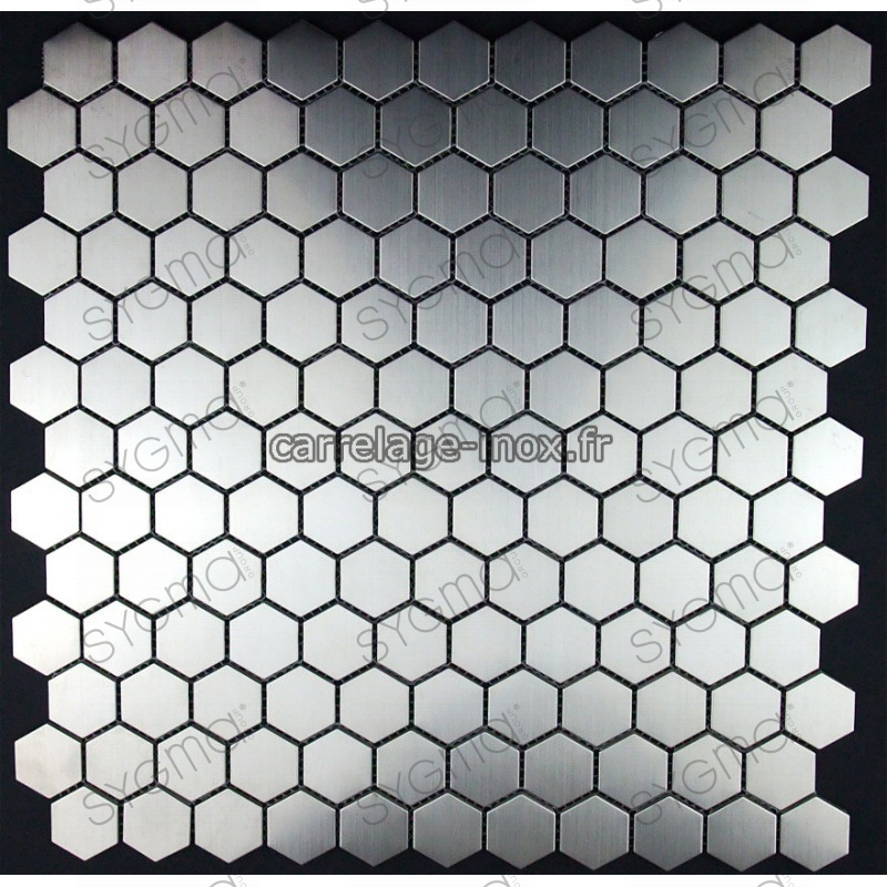 mosa que inox 1m2 carrelage inox fond de hotte hexagon carrelage. Black Bedroom Furniture Sets. Home Design Ideas