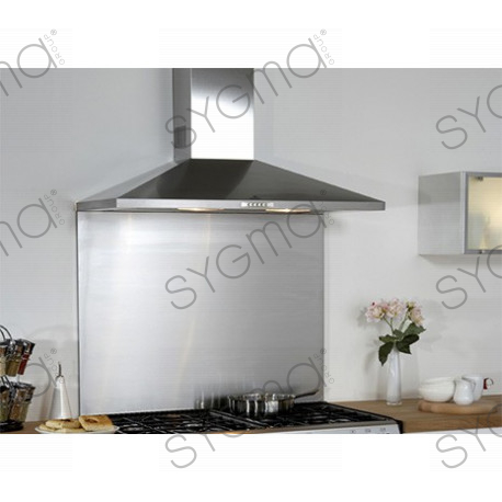 Fond hotte inox table de cuisine for Credence derriere plaque cuisson
