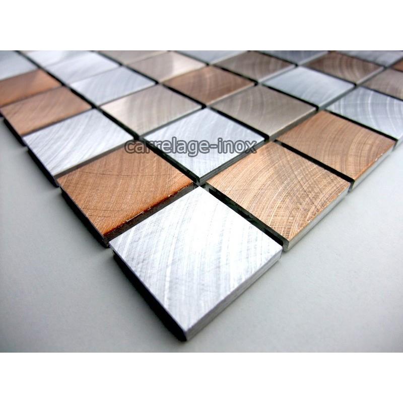 Mosaique et carrelage aluminium alu 25 marron - Castorama plaque inox ...