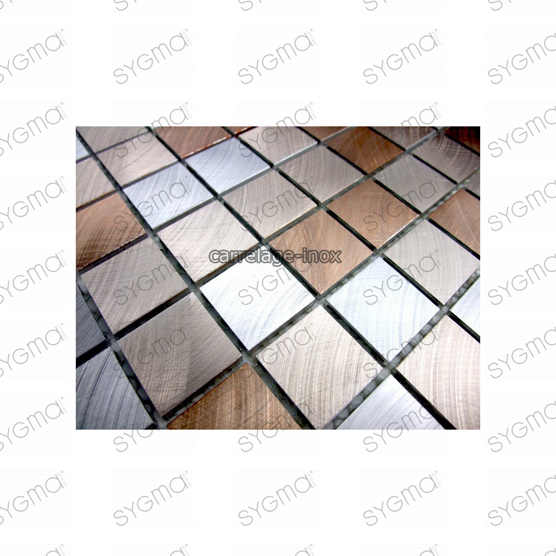 Mosaique aluminium sol de douche salle de bain alu 25 for Modele de carrelage salle de bain