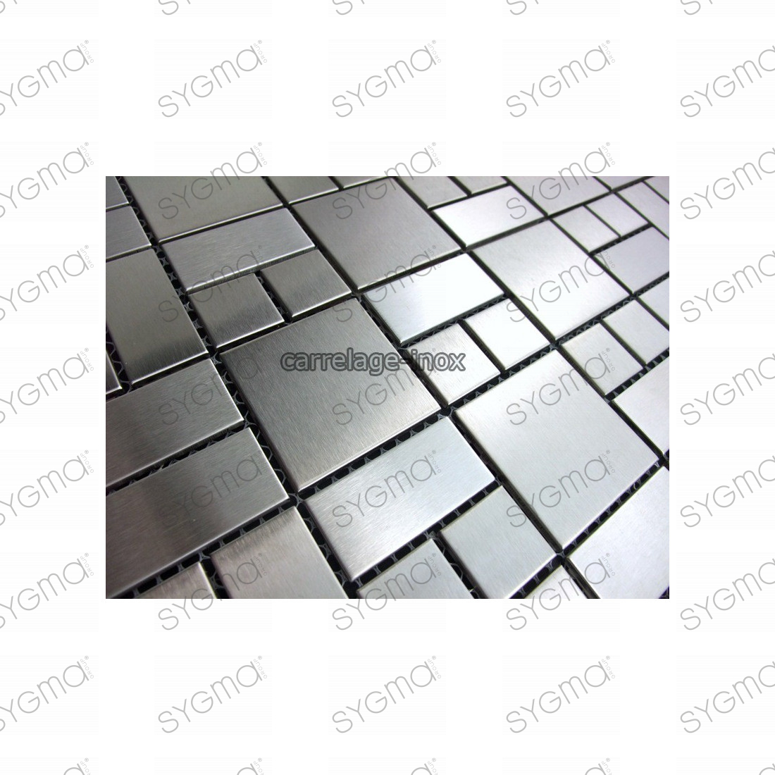 Mosaique inox carrelage faience credence loft for Carrelage inox cuisine