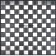 Mosaique et carrelage inox, faience credence DAMIER 25