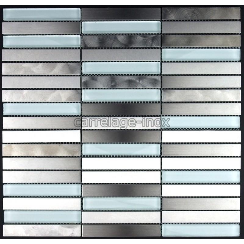 carrelage inox et verre mosaique plan travail cuisine multiinox liner carrelage. Black Bedroom Furniture Sets. Home Design Ideas