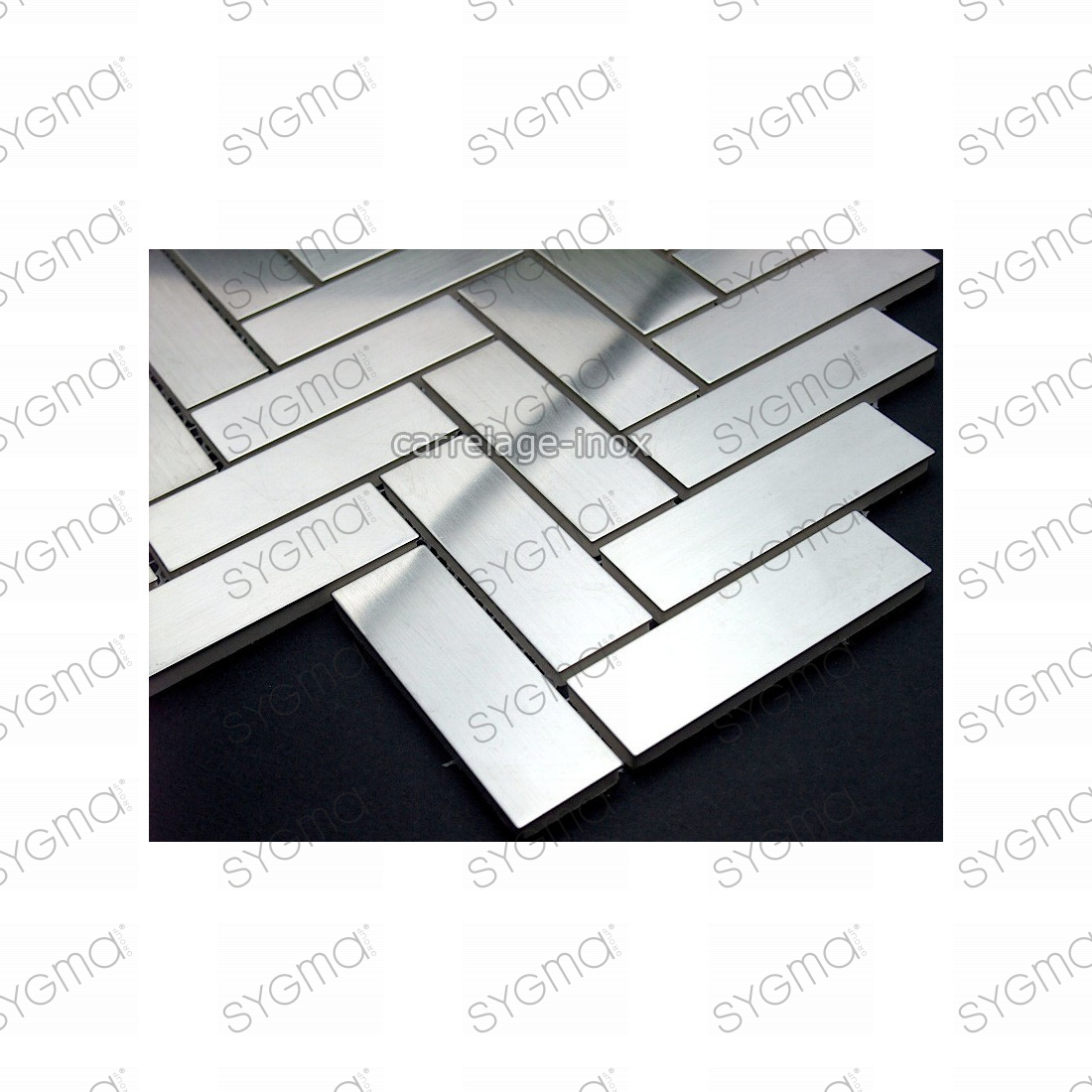 Carrelage mur sol cr dence inox plaque inox cm metro for Plaque inox pour mur