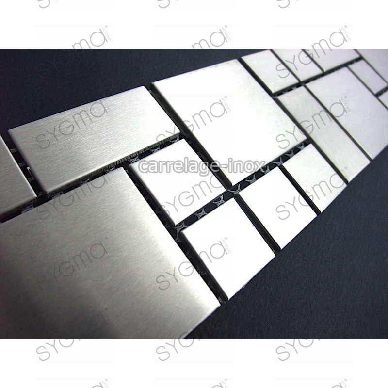 Listel inox mosaique carrelage frise acier metal laska for Carrelage inox leroy merlin