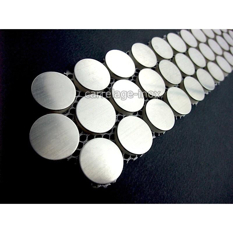 Listel inox mosaique carrelage frise acier metal RPUND 20