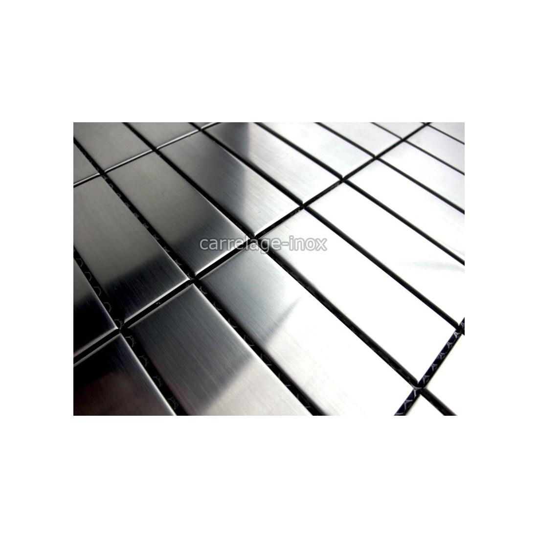 Mosaique inox modele regular 30 carrelage for Carrelage inox fr