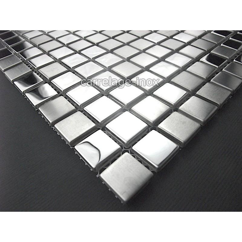 Mosaique inox carrelage cuisine mosaique douche miroir mix - Carrelage mosaique pas cher ...