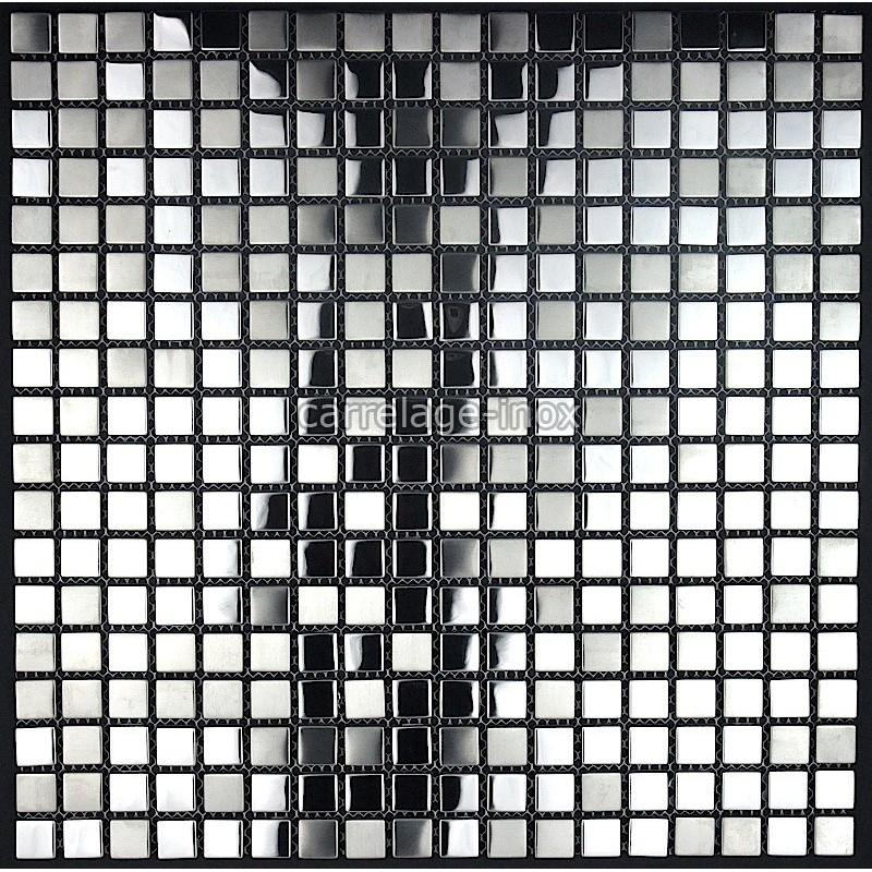 Mosaique et carrelage inox faience cuisine miroir mix for Polissage inox miroir