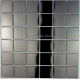 Mosaique et carrelage inox 1 m2 REGULAR NOIR