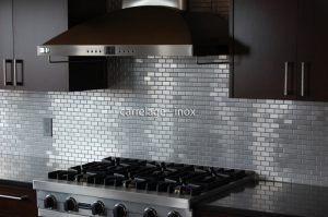 Douche italienne mosaique pierre sol et mur salle de bain - Mosaique autocollante pour cuisine ...