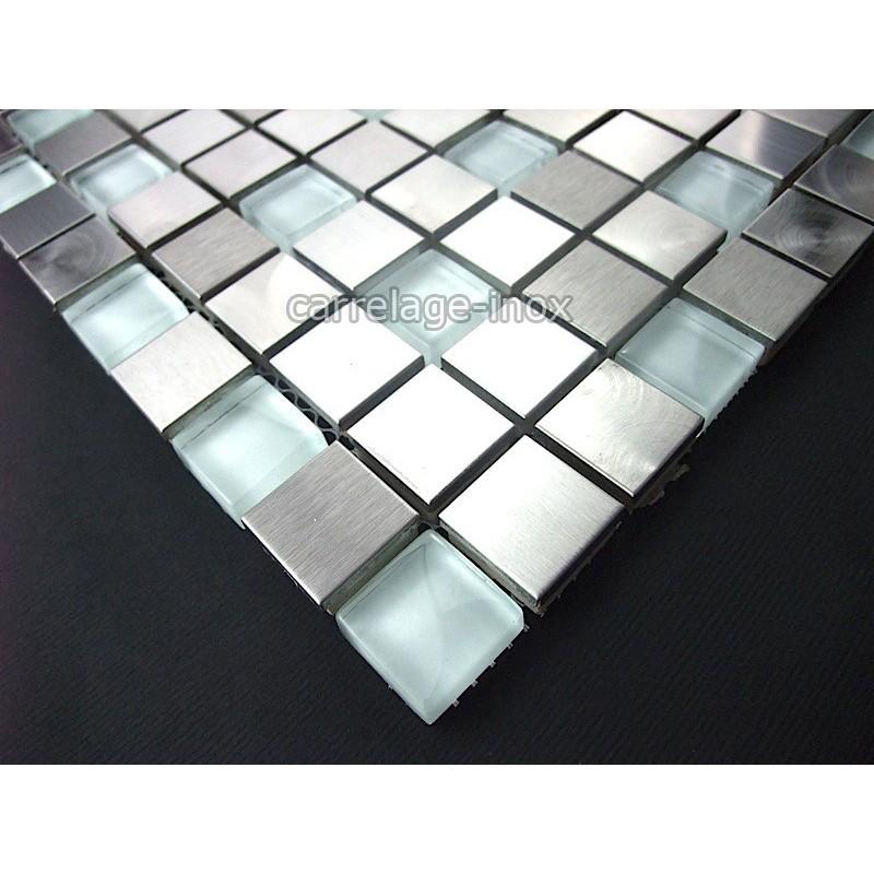 Mosaique et carrelage inox et verre 1 m2 multi inox - Carrelage imitation inox ...