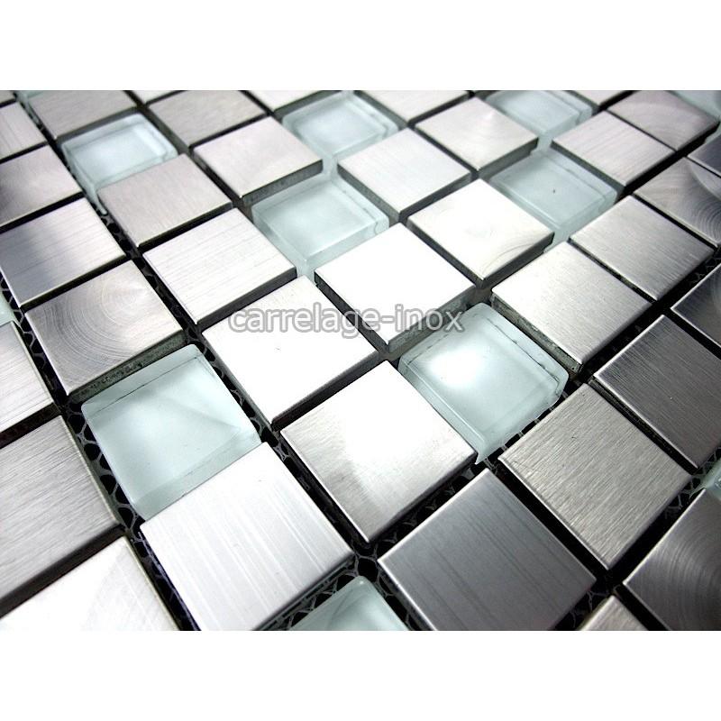 mosaique et carrelage inox et verre 1 m2 multi inox regular carrelage. Black Bedroom Furniture Sets. Home Design Ideas