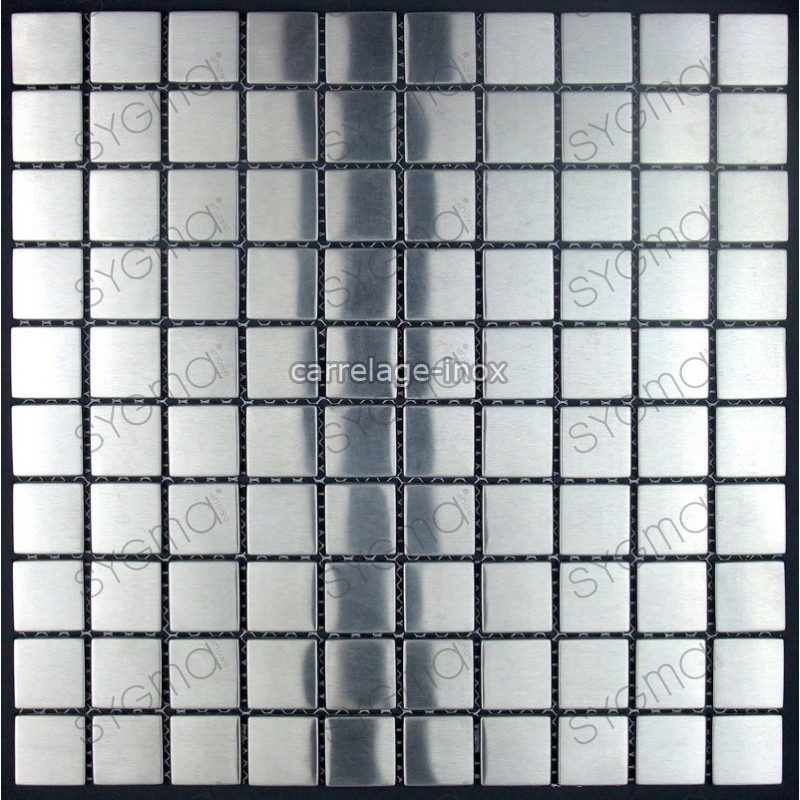 Mosaic stainless steel 1m2 splashback kitchen tiles for Calcul m2 carrelage