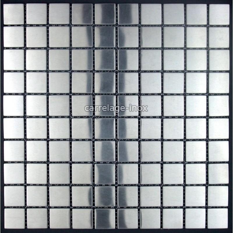 Mosaic stainless steel 1m2 splashback kitchen tiles for Calcul m2 carrelage