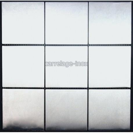Mosaique inox 1 plq carrelage faience REGULAR 98