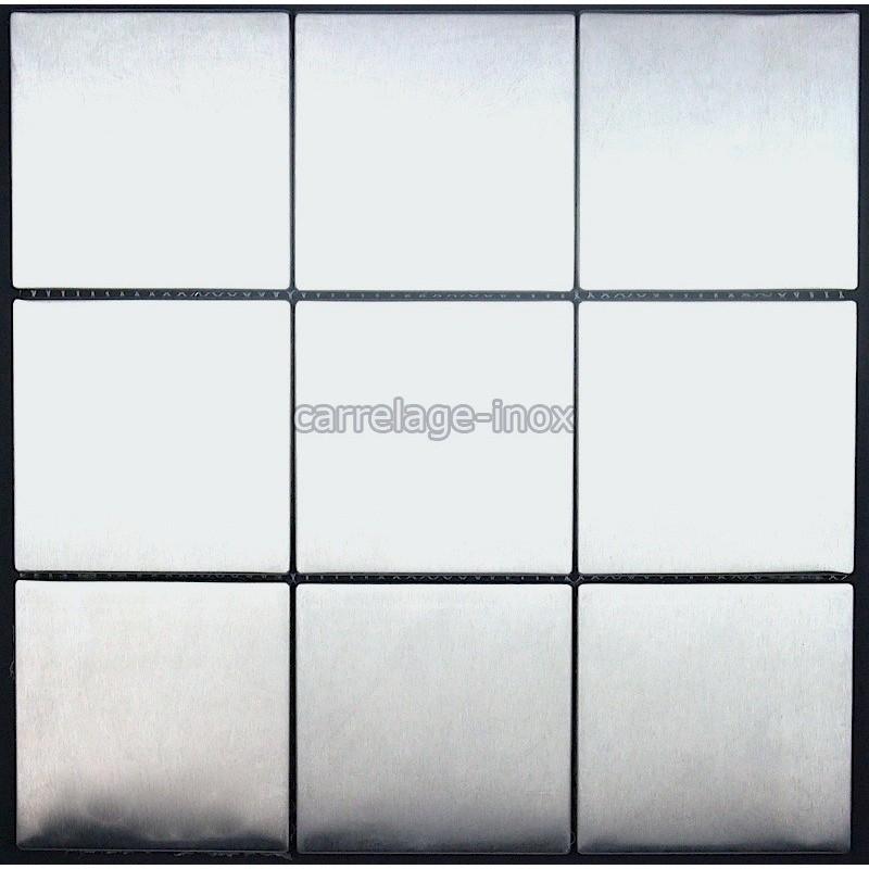 Placa de mosaico de acero inoxidable splashback de cocina - Placa de acero inoxidable ...