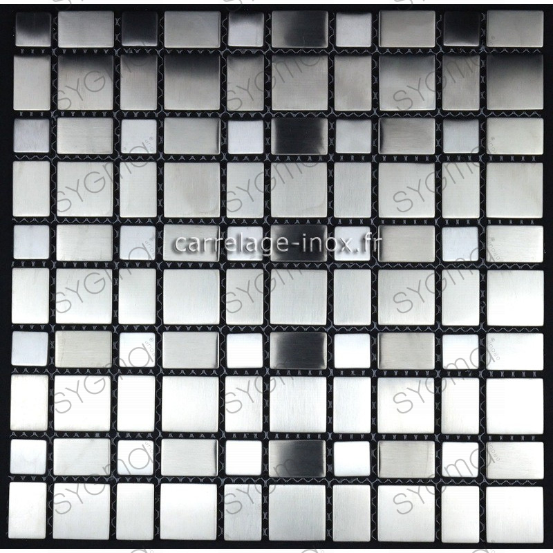 Mosaic stainless steel tile stainless steel metal f i l m for Credence inox 3m