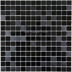 tile stainless steel mirror mosaic faience BLACK MIRROR MIX