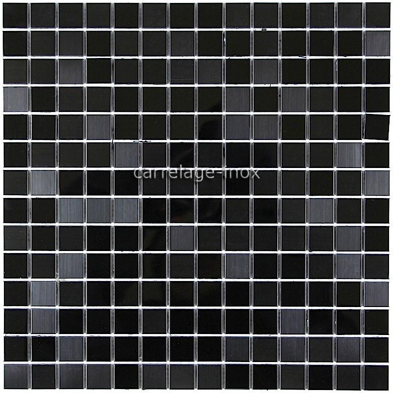 Carrelage Et Faiences Mosaique : Tile stainless steel mirror mosaic faience black