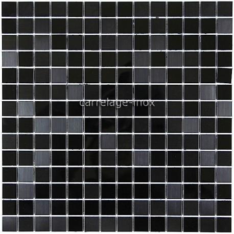 Splashback kitchen stainless steel 1m2 mosaic stainless steel shower mirror b - Texture carrelage noir ...