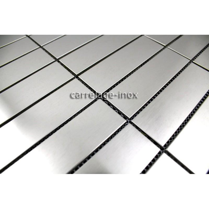 plaque mosaique inox cr dence cuisine inox sol douche rectangular 98 carrelage. Black Bedroom Furniture Sets. Home Design Ideas