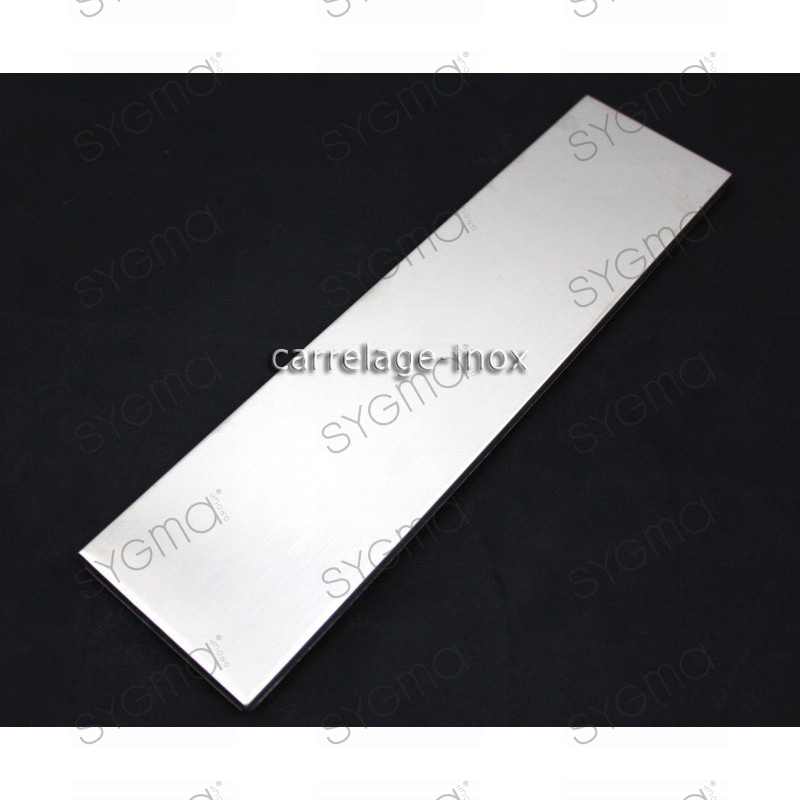tiled plinth stainless steel tiles metal steel 1 piece linea