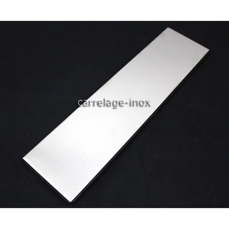 tiled plinth stainless steel tiles metal steel 1 piece linea