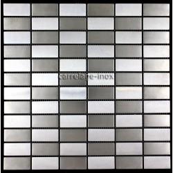 Mosaique-carrelage-inox-DAMIER-BRIQUE