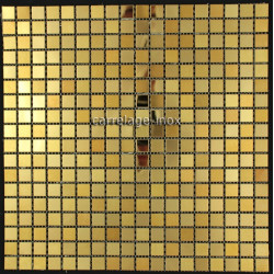 carrelage inox dore mosaique faience GOLD MIX 15