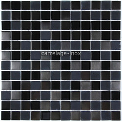 tile stainless steel and glass mosaic in stainless steel and glass  doblo-noir