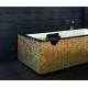 pisos de cerámica acero inoxidable dore mosaico de azulejos Fusion Or