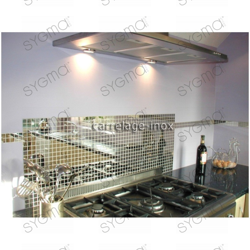 Tile mirror polished stainless steel mosaic faience mirror for Carrelage inox fr