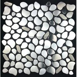 plate mosaic stainless steel splashback kitchen stainless steel floor shower pebble