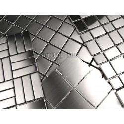ejemplo de mosaico de acero inoxidable de aluminio de cristal de la madre de la perla de la piedra, la madera