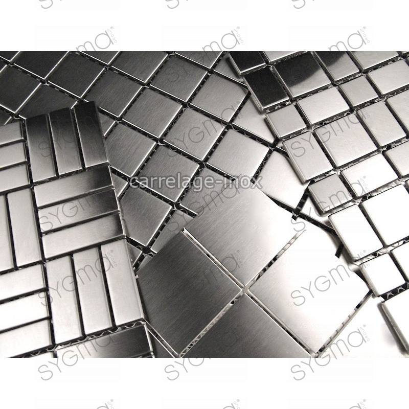 Chantillon mosa que inox aluminium verre nacre pierre - Mosaique inox ...