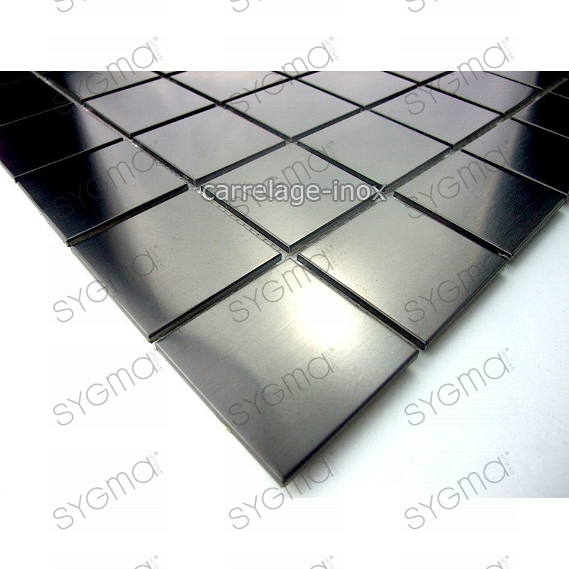 Tile mosaic stainless steel shower tile bathroom regular for Carrelage noir