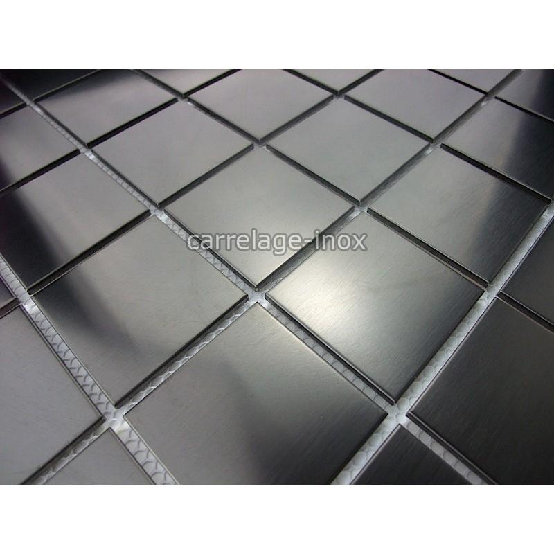 Tile mosaic stainless steel shower tile bathroom regular for Carrelage mosaique inox cuisine