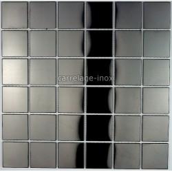 dalle mosaique inox douche mosaique salle de bain regular noir