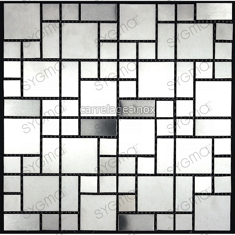 Tile mosaic stainless steel shower bathroom laska for Carrelage inox fr