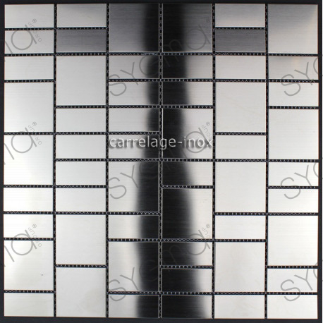 carrelage inox 1m2 mosa que inox cuisine cr dence argos carrelage. Black Bedroom Furniture Sets. Home Design Ideas