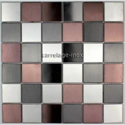 azulejo de mosaico de acero inoxidable mosaico de ducha cuarto de baño priméa